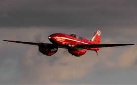 Preview wallpaper Red aircraft, sky