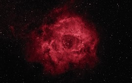 Preview wallpaper Rosette Nebula, space, stars, red style