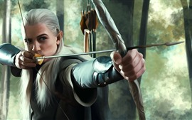 Preview wallpaper The Lord of the Rings, Elf, Legolas, art picture