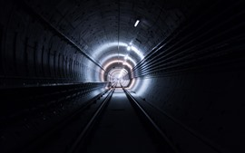 Tunnel, lights, track