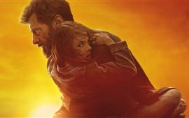 壁紙のプレビュー Wolverine、Logan、Hugh Jackman、女の子