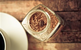 Preview wallpaper Coffee, granules, cup