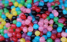 Vorschau des Hintergrundbilder Viele bunte Süßigkeitenperlen