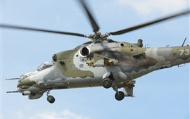 Preview wallpaper Mi-24V helicopter