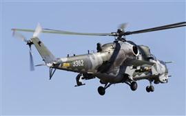Vorschau des Hintergrundbilder MI-35 Hubschrauber, Flug, Himmel