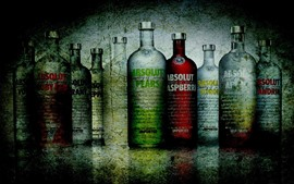 Preview wallpaper Vodka, bottles, colorful