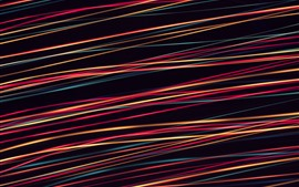Líneas de colores, fondo negro, diseño abstracto