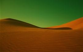 Preview wallpaper Desert, green background