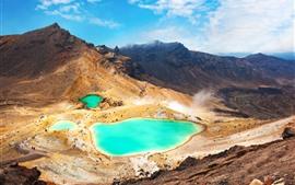 Lago esmeralda, montanhas, natureza paisagem