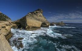 Франция, Корсика, Средиземное море, скалы