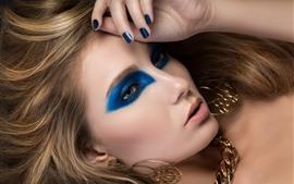 Preview wallpaper Girl, face, makeup, earring, look