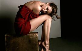 Chica, modelo, piernas, photoshoot