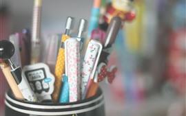 Muitas canetas, detentor de caneta