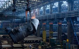 Aperçu fond d'écran Métal en fusion, casting, usine