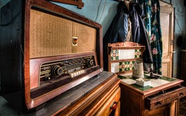 Preview wallpaper Radio, classic electrical appliances