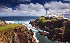 Fanad Leuchtturm, Felsen, Meer, Irland