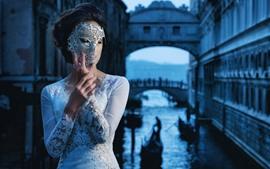 Menina, máscara, estilo