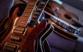 Vorschau des Hintergrundbilder Gitarre-Makrofotografie, Musik