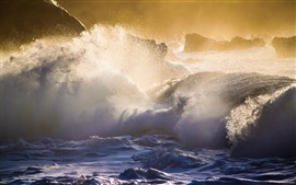 预览壁纸 夏威夷,海浪,风暴,水花
