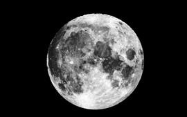 Aperçu fond d'écran Lune, surface, espace, fond noir