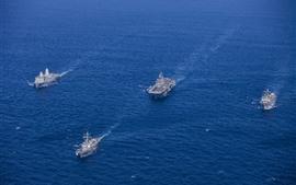 Vorschau des Hintergrundbilder Navy, Schiffe, Armee, Meer