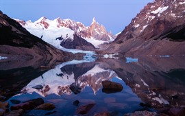 Aperçu fond d'écran Patagonie, Argentine, lac, neige, montagnes, parc national de Los Glaciaux