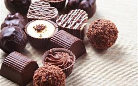 Vorschau des Hintergrundbilder Süßes Essen, Schokoladensüßigkeit