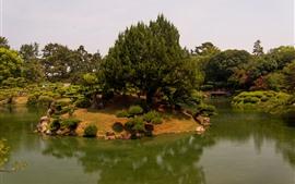 Preview wallpaper Takamatsu, Japan, park, trees, pond