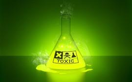 Aperçu fond d'écran Liquide toxique, lueur, vert, image créative
