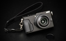 Fujifilm X70 камера, черный фон