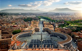 Италия, Ватикан, город, площадь, дорога
