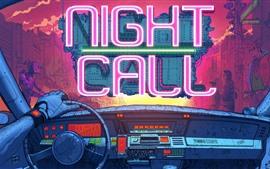 预览壁纸 夜晚电话,霓虹灯,汽车,机器人,创意设计图片