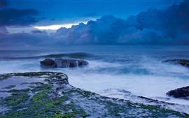 Preview wallpaper Storm, sea, clouds, coast