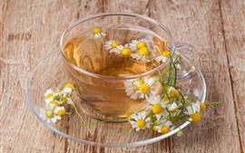 Daisy-Tee, Glasschale, Getränke