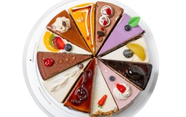 Aperçu fond d'écran Délicieux gâteaux, tranche de gâteau coloré
