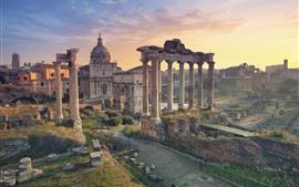 Италия, Рим, Руины, Путешествия, Город, Закат