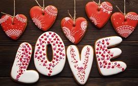 Amor corações, amor, cookies