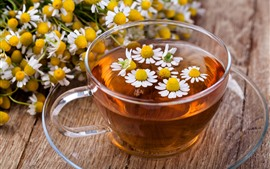 Preview wallpaper One cup of flower tea, daisy