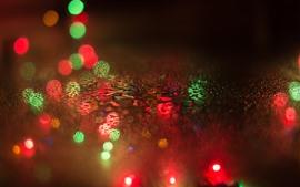 预览壁纸 水滴,玻璃,五颜六色的光圈