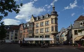 壁紙のプレビュー コルマール、フランス、ストリート、建物、都市