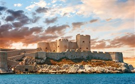 Vorschau des Hintergrundbilder Frankreich, Festung, Meer