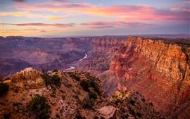 Gran Cañón, Estados Unidos, Red Rocks, Río, Atardecer