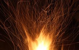 壁紙のプレビュー 休日、花火、火花