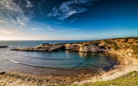 Aperçu fond d'écran Italie, Sardaigne, mer, côte, ciel bleu