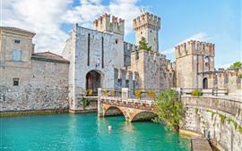 Italia, Verona, Castillo, Puente, Río