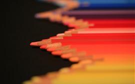 Aperçu fond d'écran Crayons rouges, brumeux